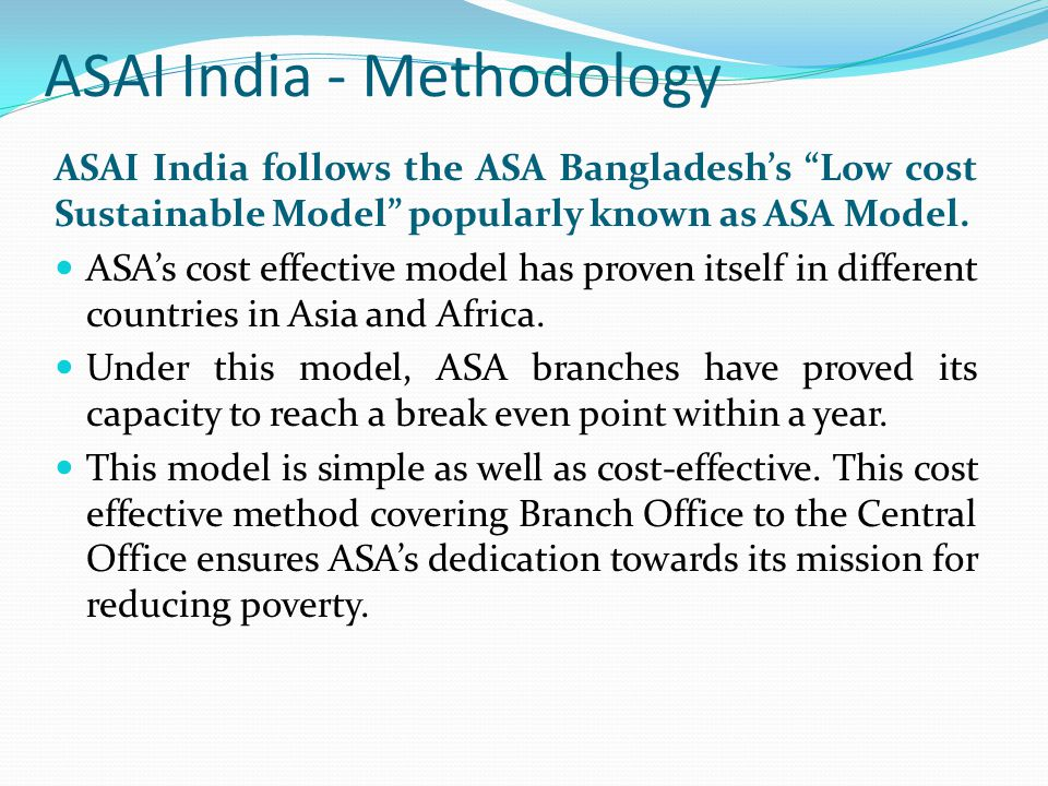 ASAI India - Methodology