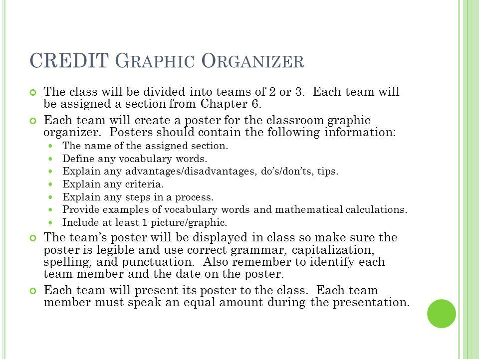 CREDIT Graphic Organizer