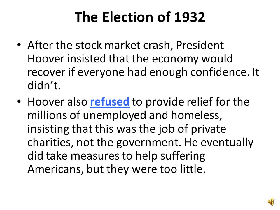 The Election of 1932