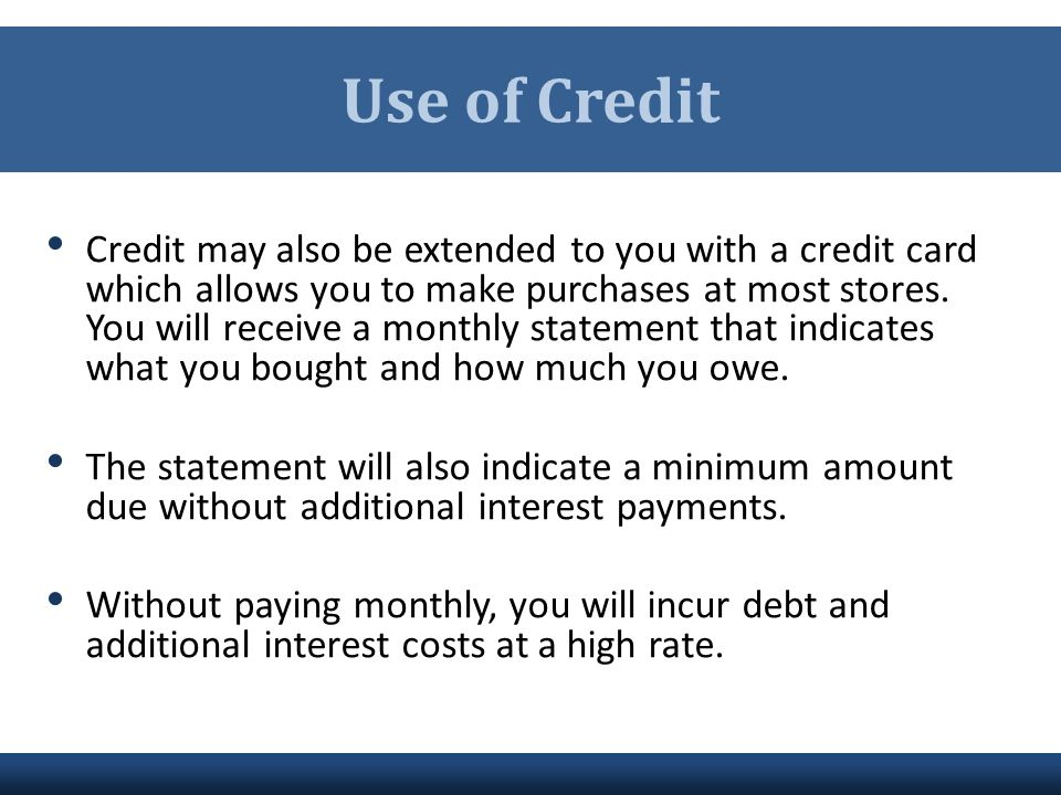 Use of Credit