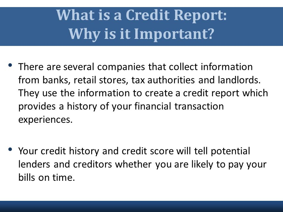 What is a Credit Report: Why is it Important