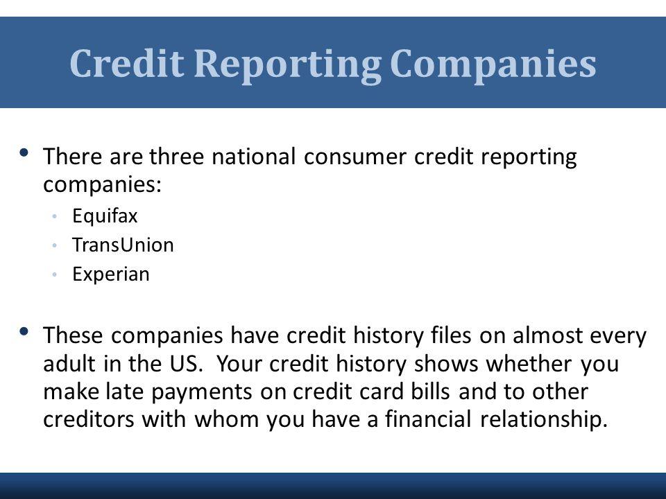 Credit Reporting Companies