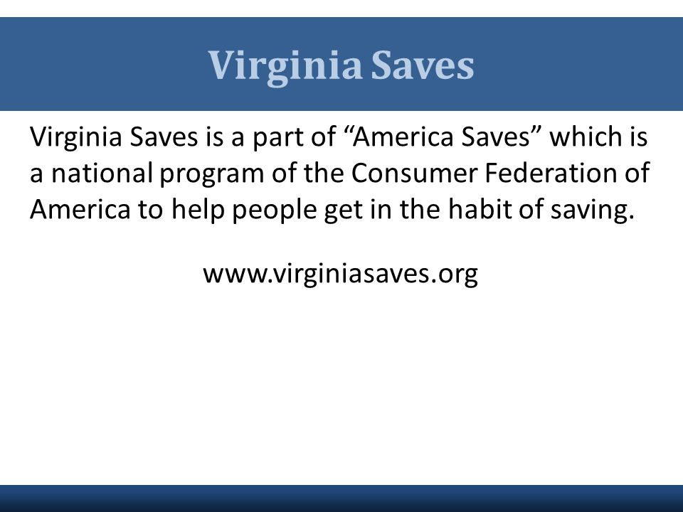 Virginia Saves
