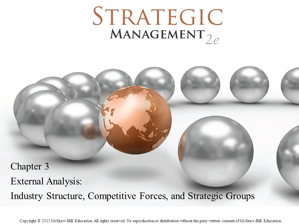 Chapter 3 External Analysis: Industry Structure, Competitive Forces, and Strategic Groups