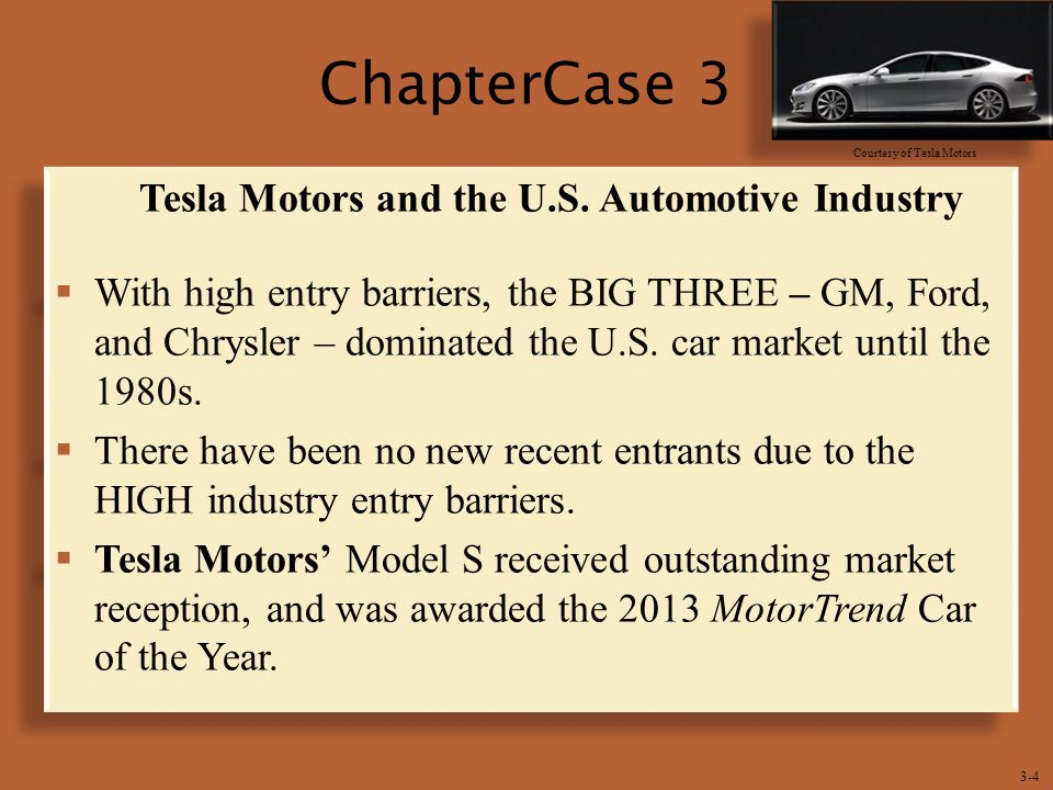 Tesla Motors and the U.S. Automotive Industry