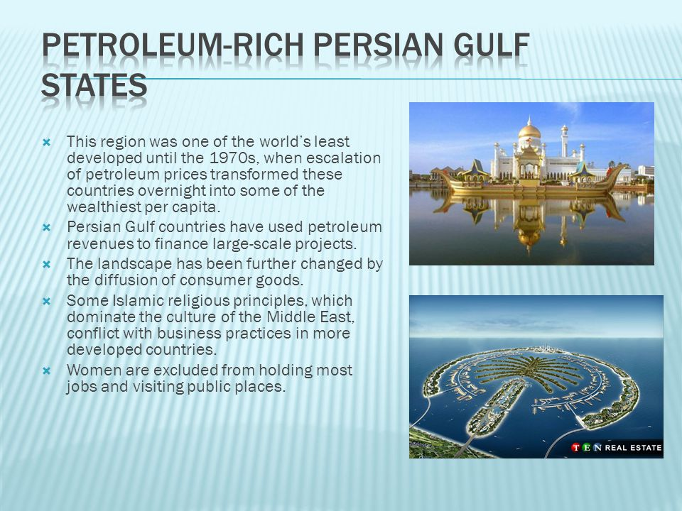 Petroleum-Rich Persian Gulf States