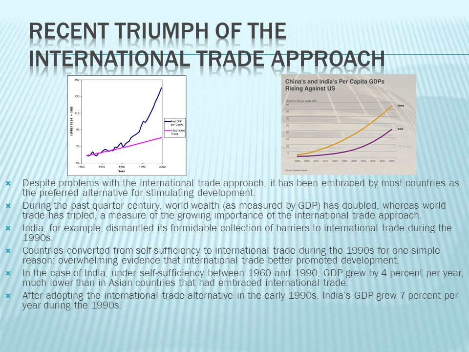 Recent Triumph of the International Trade Approach
