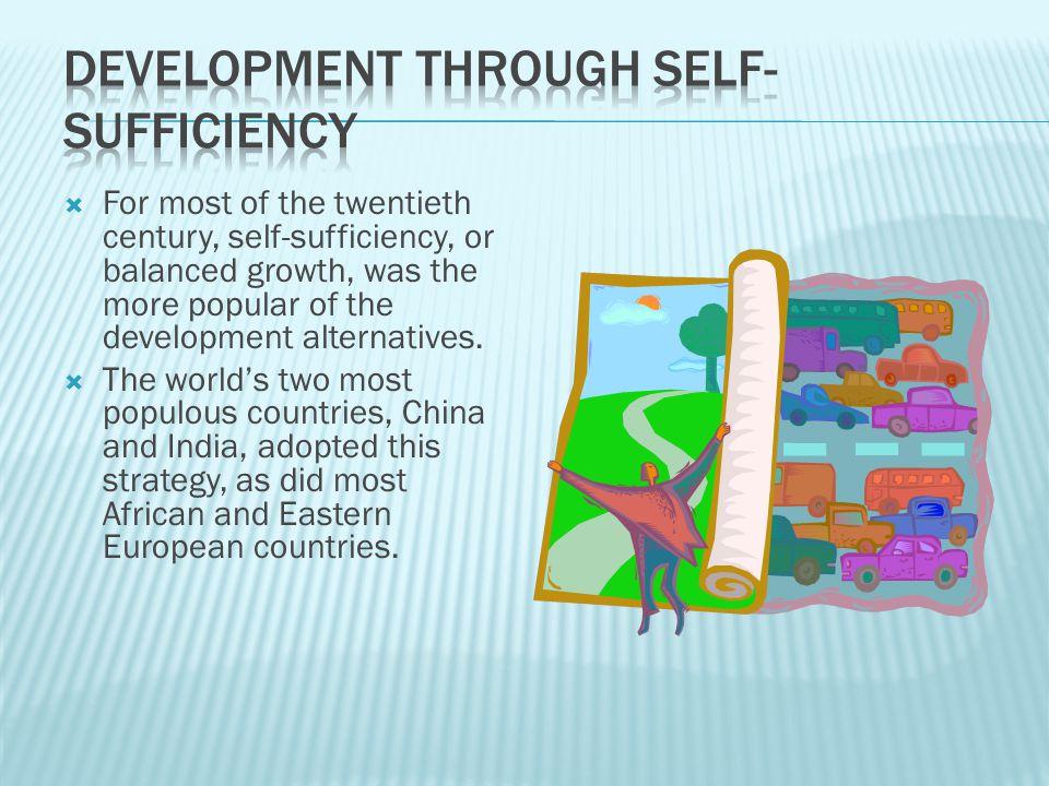 Development through Self-Sufficiency