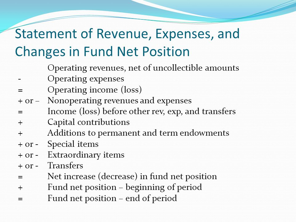 Statement of Revenue, Expenses, and Changes in Fund Net Position