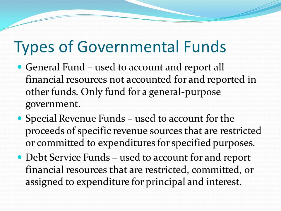 Types of Governmental Funds
