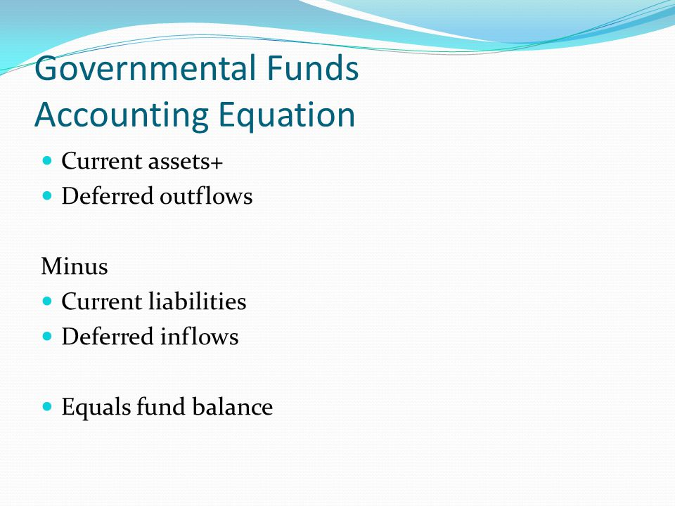 Governmental Funds Accounting Equation
