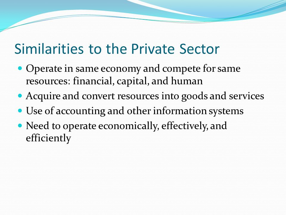 Similarities to the Private Sector