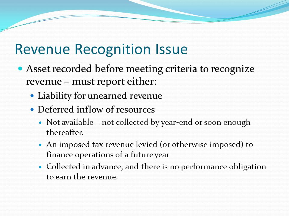 Revenue Recognition Issue