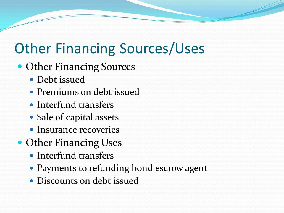 Other Financing Sources/Uses