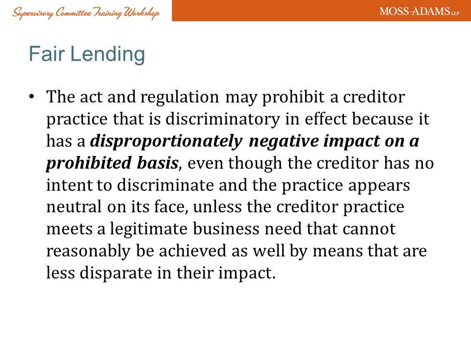 Fair Lending