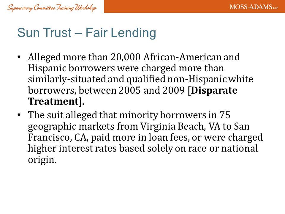 Sun Trust – Fair Lending