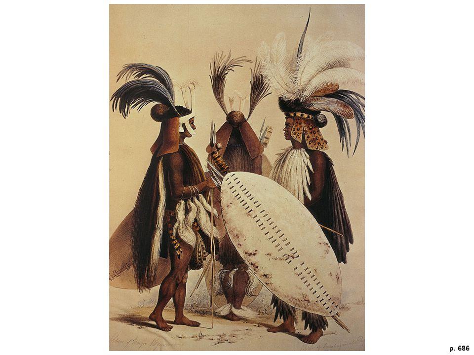 Zulu in Battle Dress, 1838.