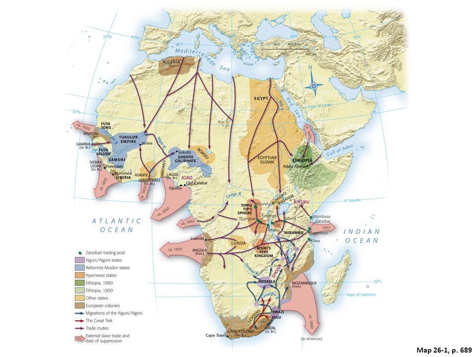 Map 26.1: Africa in the Nineteenth Century.
