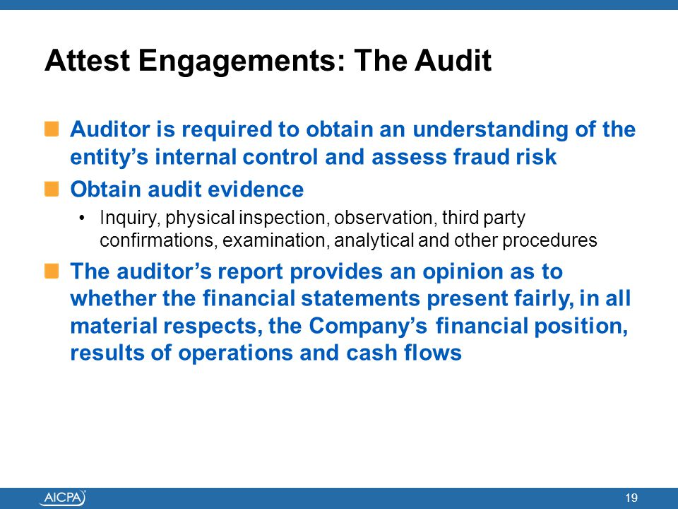 Attest Engagements: The Audit