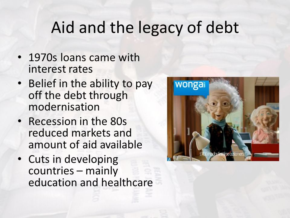 Aid and the legacy of debt