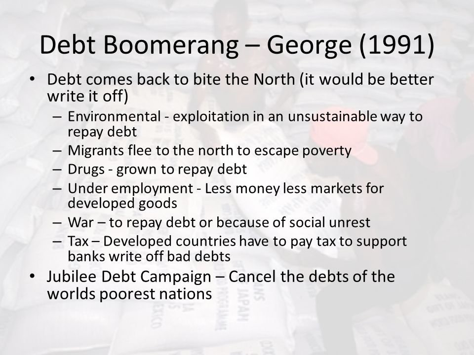 Debt Boomerang – George (1991)
