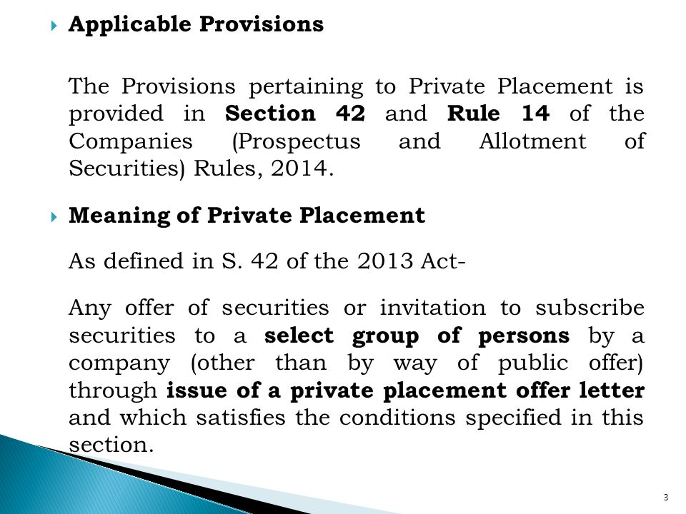 Applicable Provisions