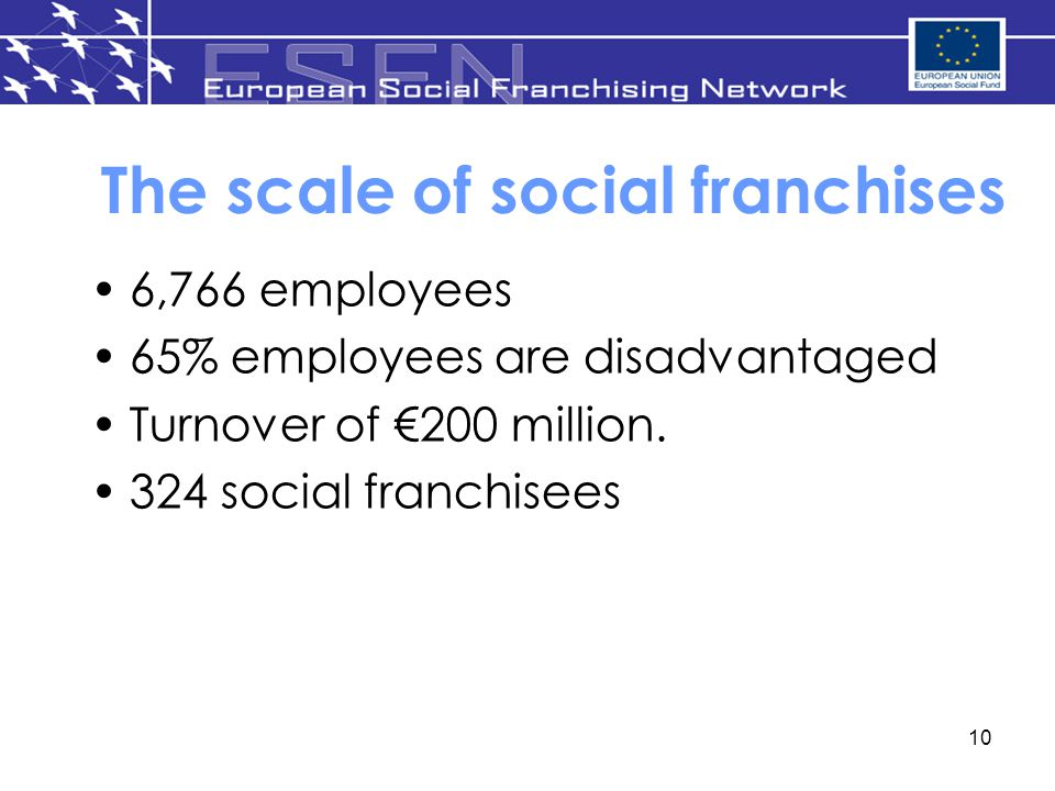 The scale of social franchises