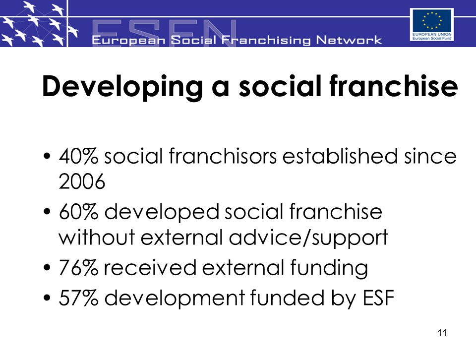 Developing a social franchise