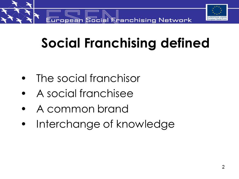 Social Franchising defined