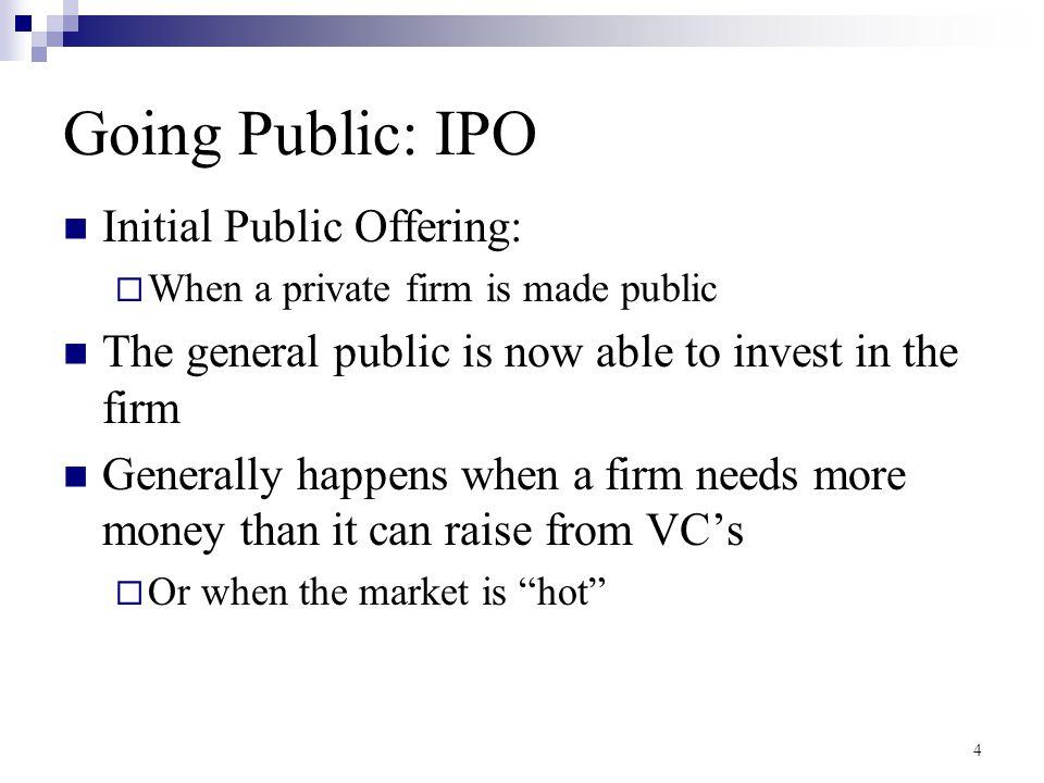 Going Public: IPO Initial Public Offering: