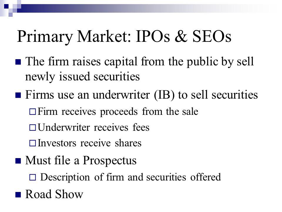 Primary Market: IPOs & SEOs