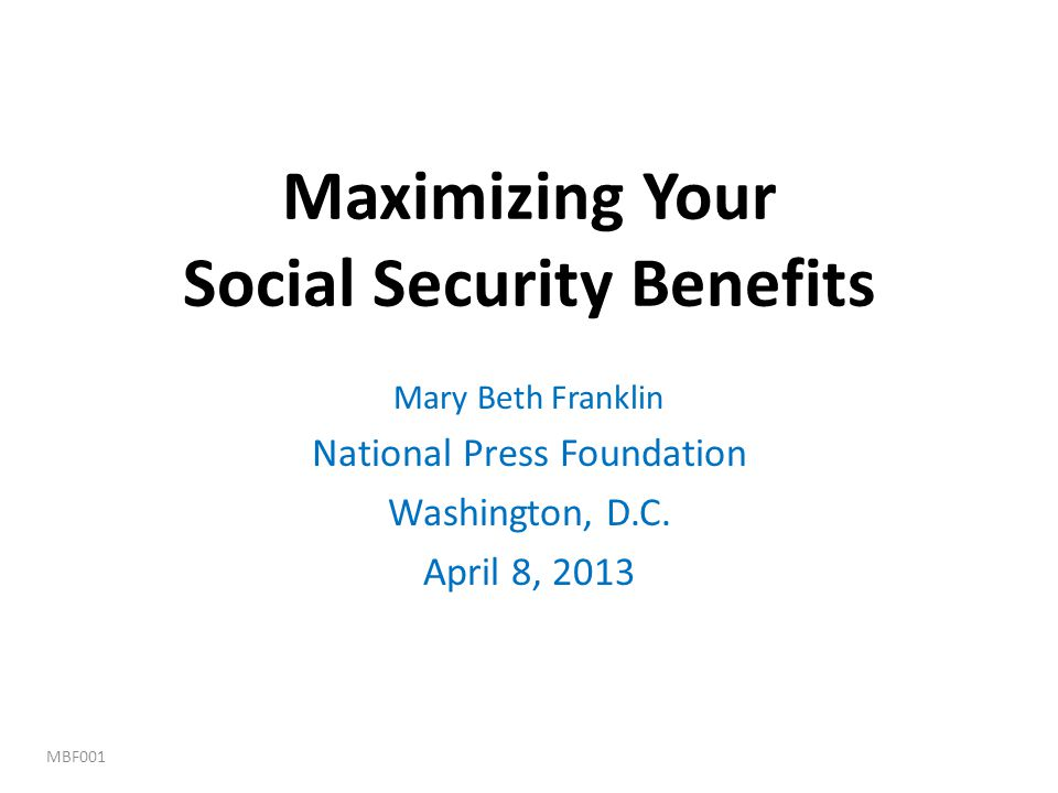 Maximizing Your Social Security Benefits