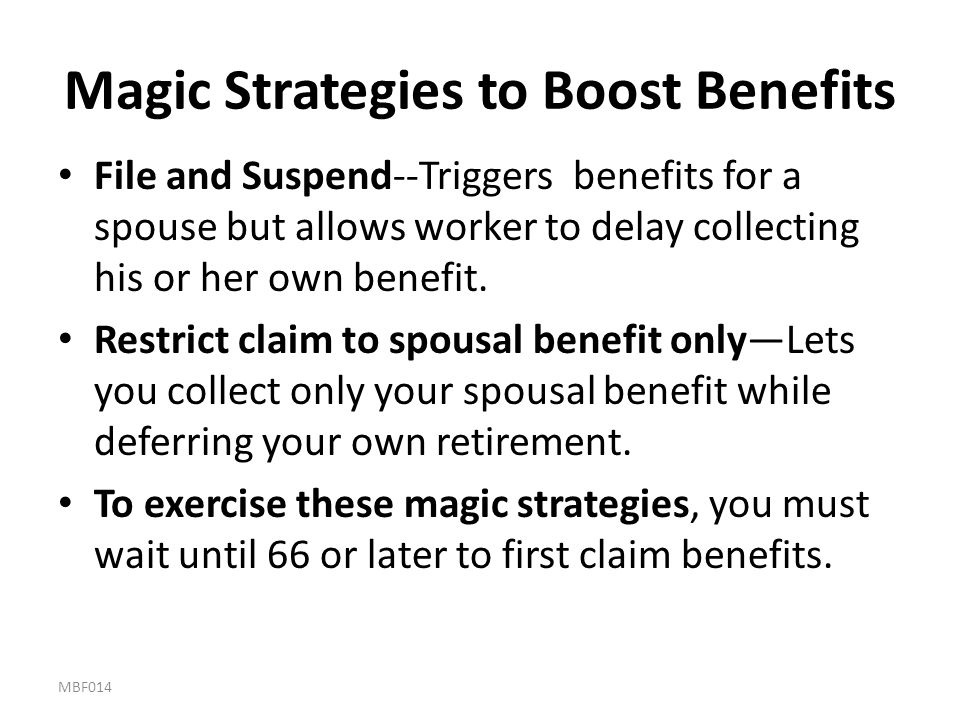 Magic Strategies to Boost Benefits