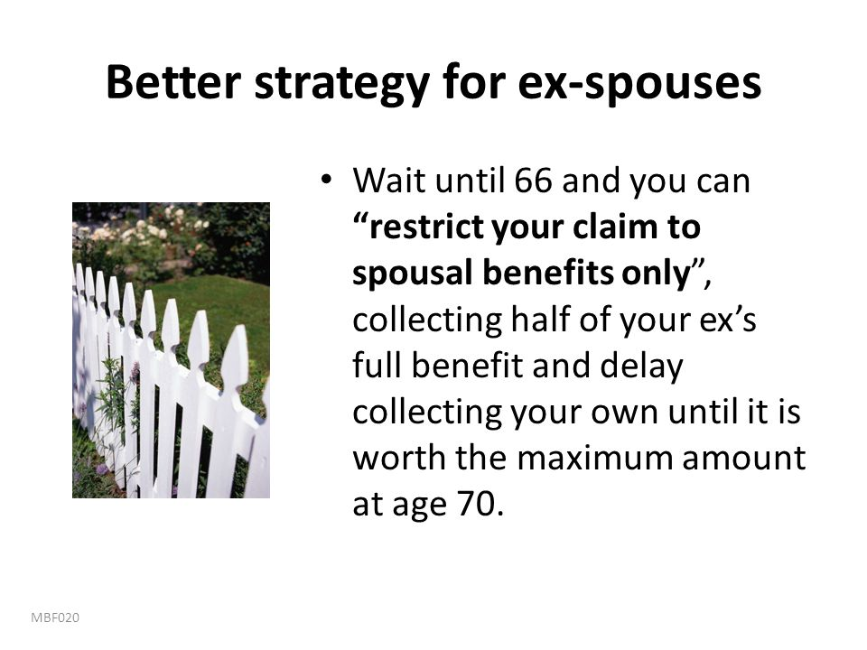 Better strategy for ex-spouses