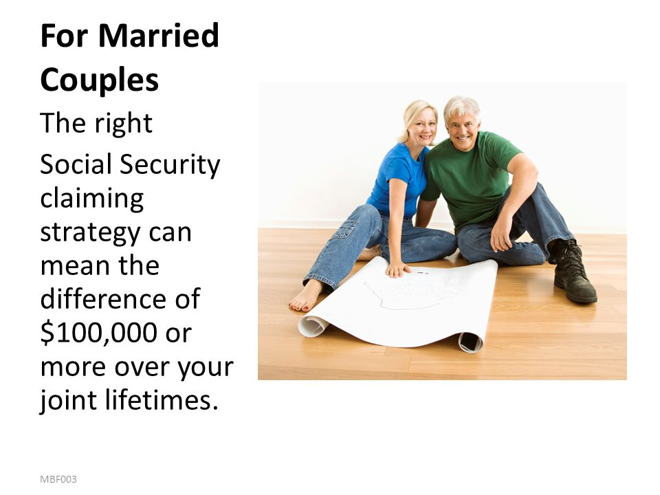 For Married Couples The right