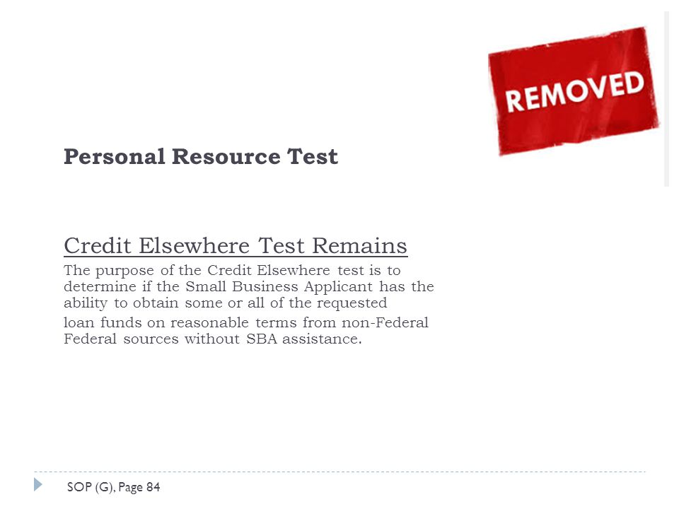 Personal Resource Test