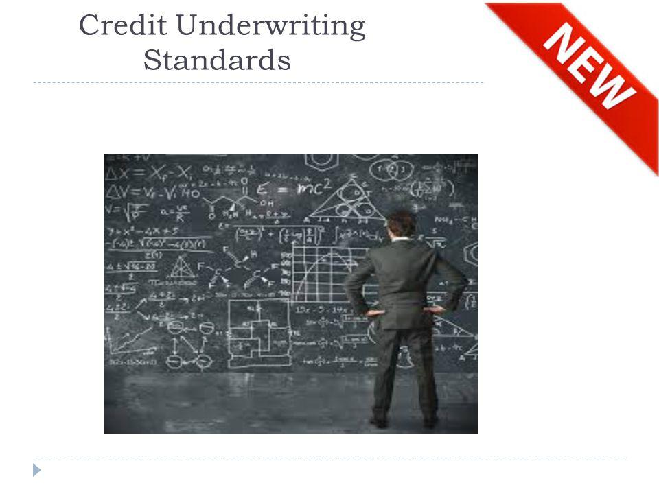 Credit Underwriting Standards