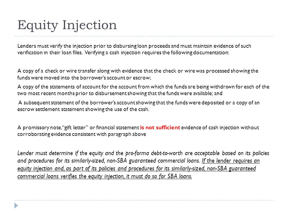 Equity Injection