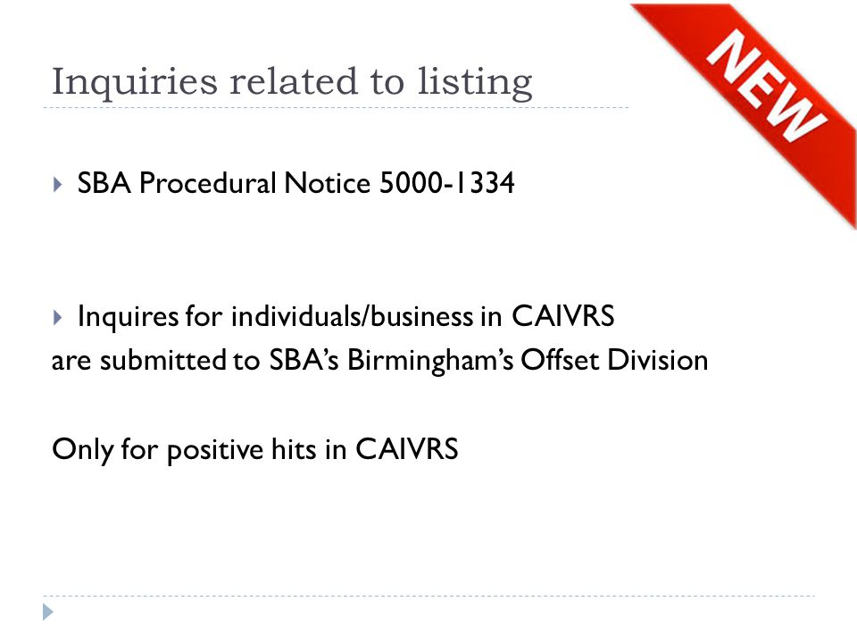 Inquiries related to listing