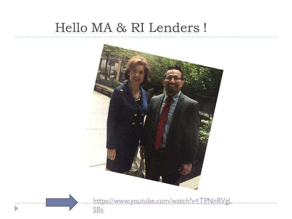 Hello MA & RI Lenders ! https://www.youtube.com/watch v=TPNnRVgLSBs