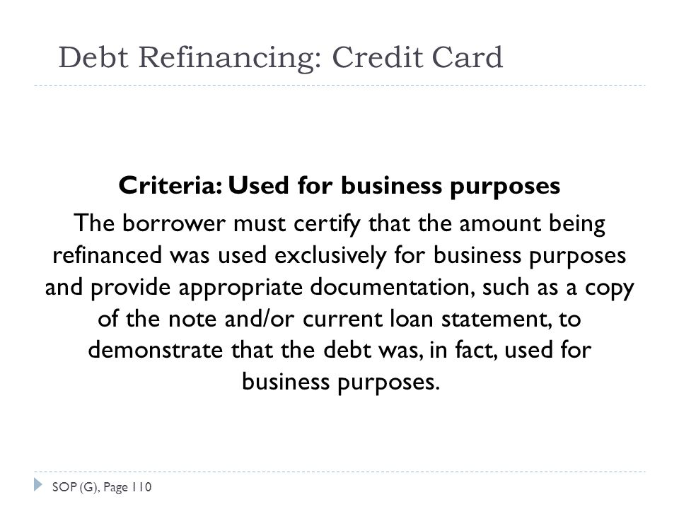 Debt Refinancing: Credit Card