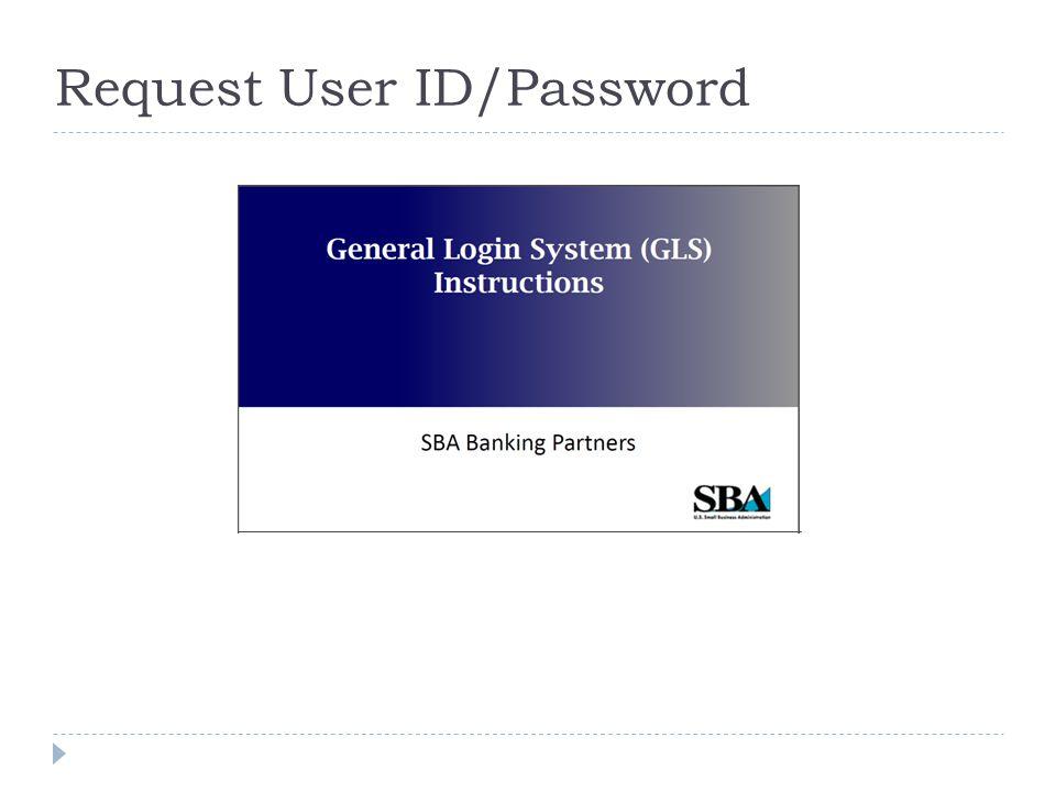 Request User ID/Password