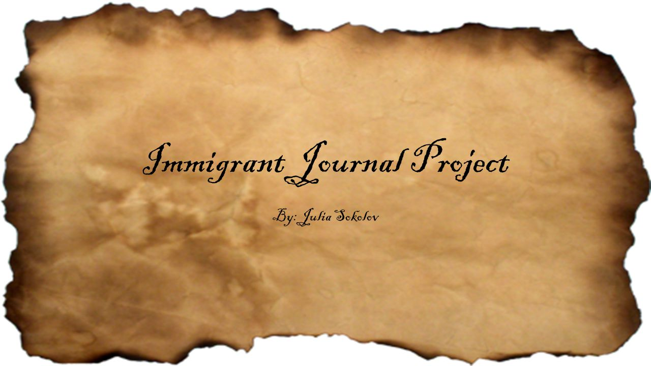 Immigrant Journal Project