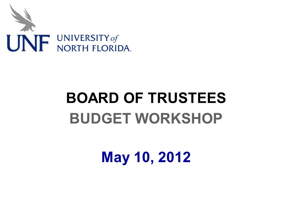 BOARD OF TRUSTEES BUDGET WORKSHOP May 10, 2012