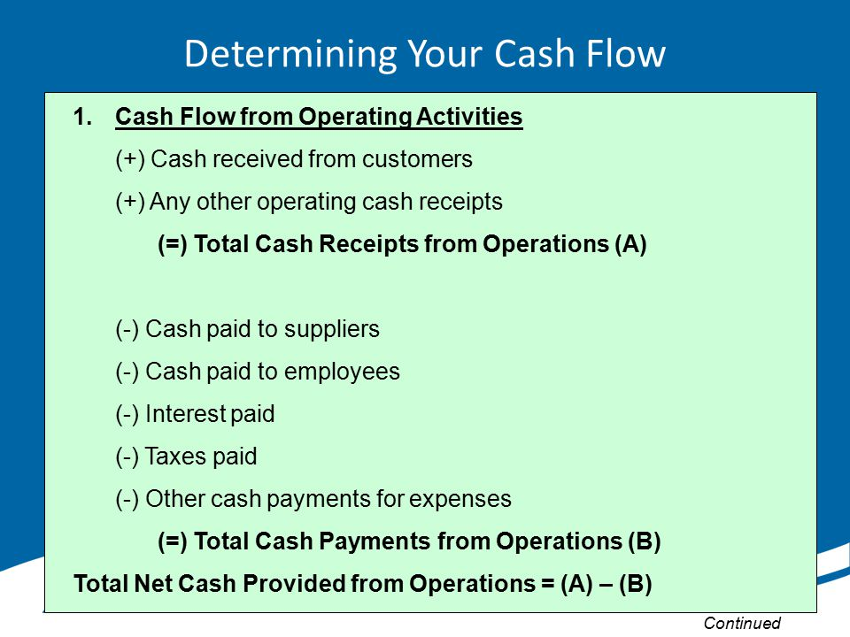 Determining Your Cash Flow