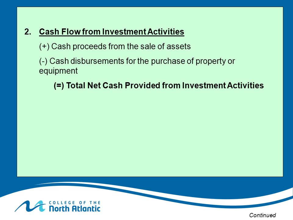 2. Cash Flow from Investment Activities