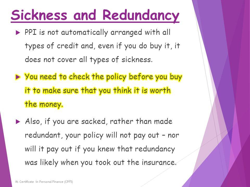 Sickness and Redundancy