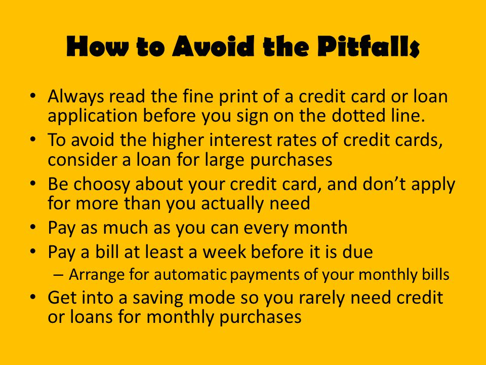 How to Avoid the Pitfalls