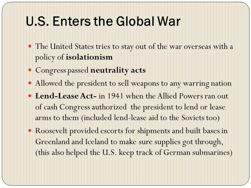 U.S. Enters the Global War