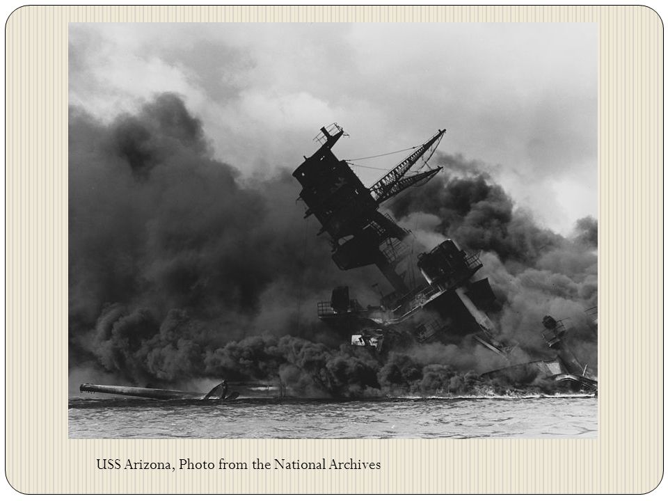 USS Arizona, Photo from the National Archives